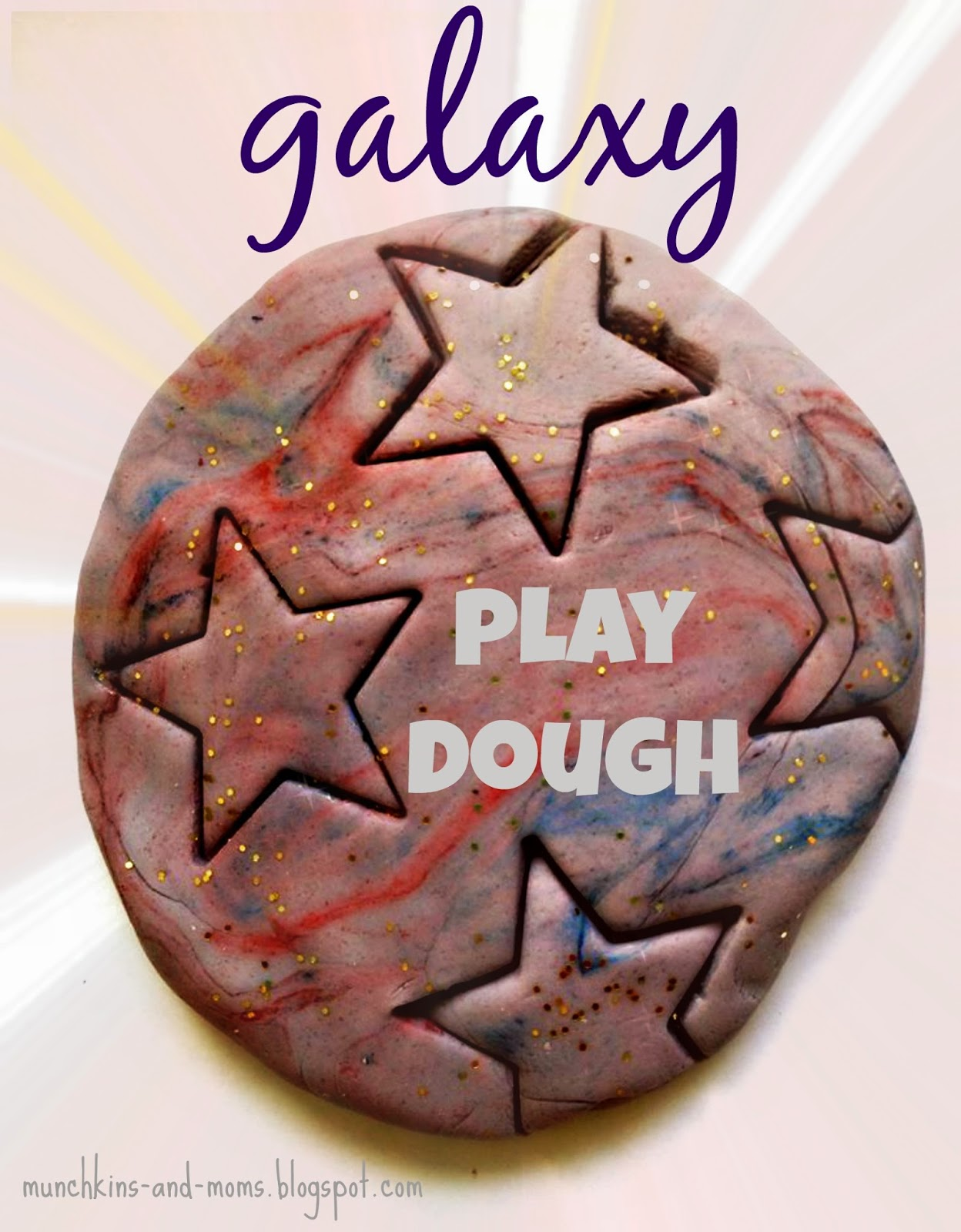 Out of this world galaxy play dough