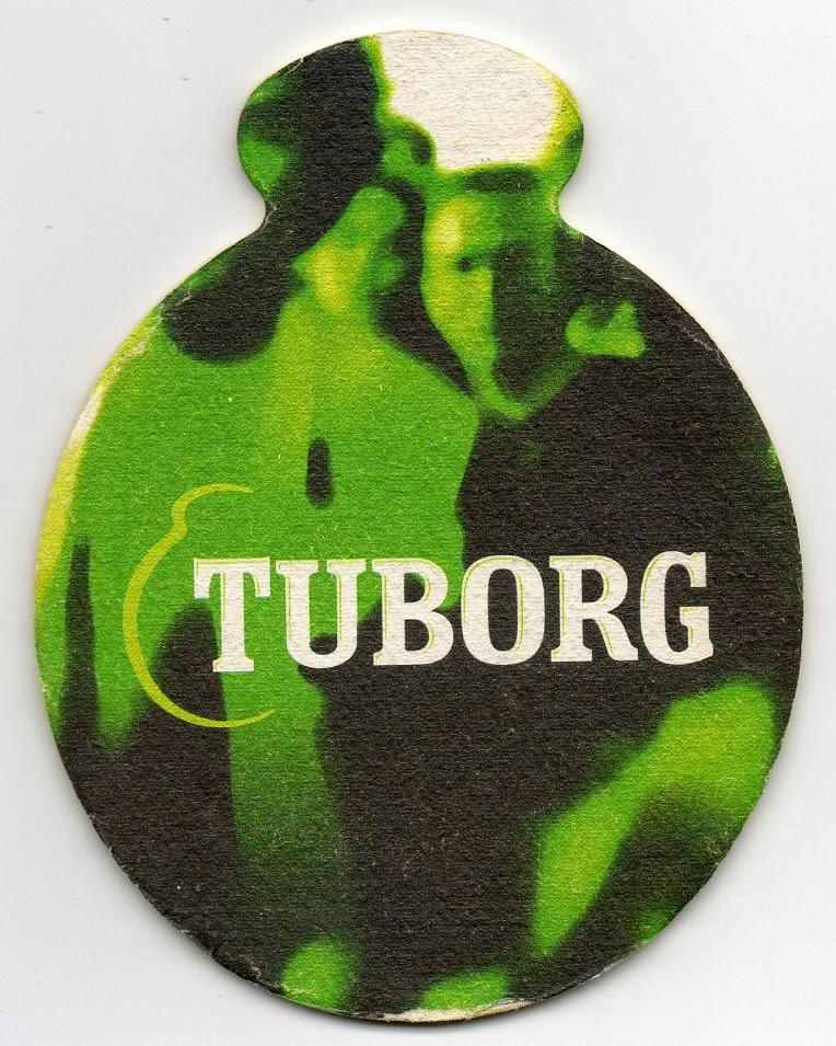 verso du sous-bock de la bière danoise Tuborg