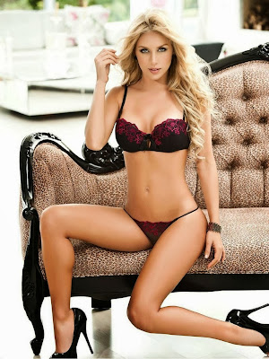 Lina Posada HQ Lingerie Pictures fom Manic Magazine Photoshoot February 2014