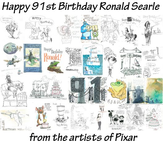 Happy 91st Ronald Searle