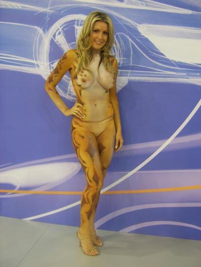 wearing body paint gallery bikini style