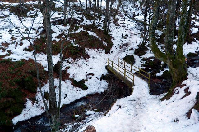 Fundil Creek Asturias heading Xiblu Waterfall Asturias Spain