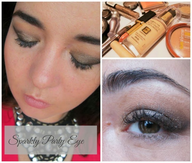 Easy affordable party makeup look