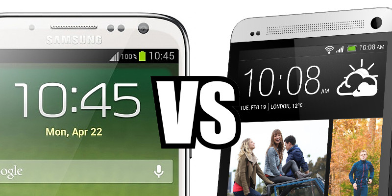 Samsung Galaxy S IV vs HTC One