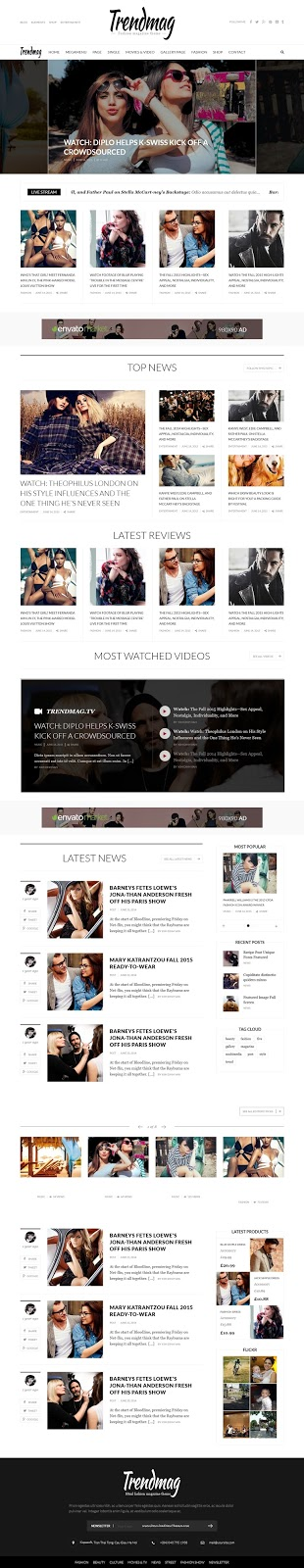 Trend Mag Magazine WordPress Theme