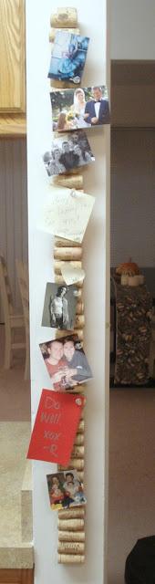 Statt Magnettafel oder Magnetboard - Memoboard aus Weinkorken auf einer Latte - ein leichter Selbermachen-Tipp!