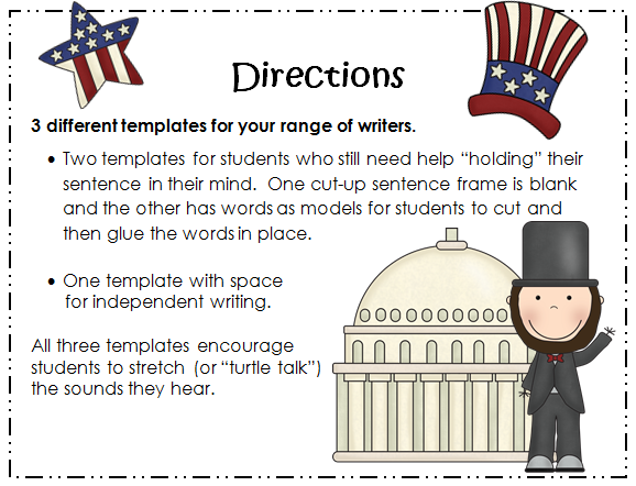 http://www.teacherspayteachers.com/Product/Presidents-Day-Writing-3-templates-included-558067