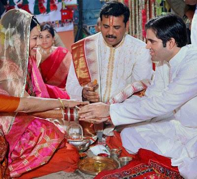 photographs of Varun Gandhis phera ceremony