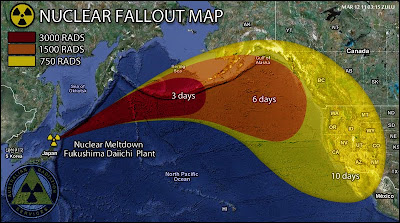 Mapa Lluvia Radioactiva Japon