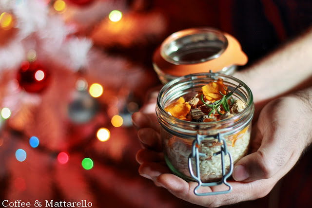 preparato per risotto ai funghi, zucca e clementine [ #anatalefallohomemade ]