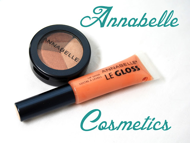 Annabelle Cosmetics Trio Eyeshadow in Creme Caramel and Le Gloss Lip Shine in Missymiss