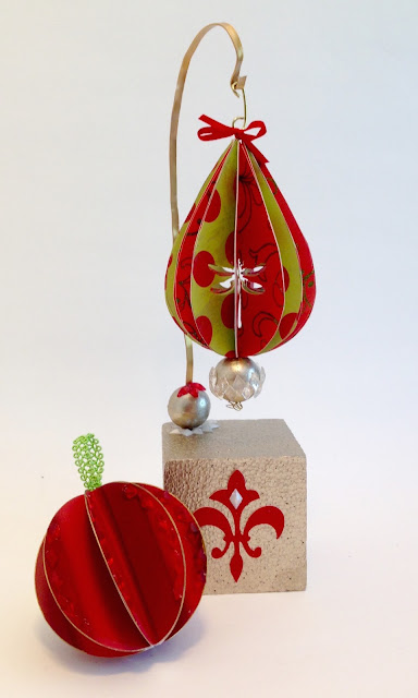 paper christmas ornaments lisa fulmer