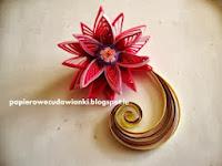 Tutorial-quillingowy kwiatek i zawijasek