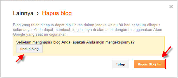 Satu akun blogger bisa kita gunakan untuk membuat banyak blog CARA Menghapus Blog Cepat dan Mudah : Terbaru