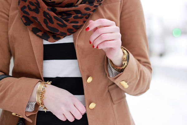 Mixing Prints Leopard and Stripes