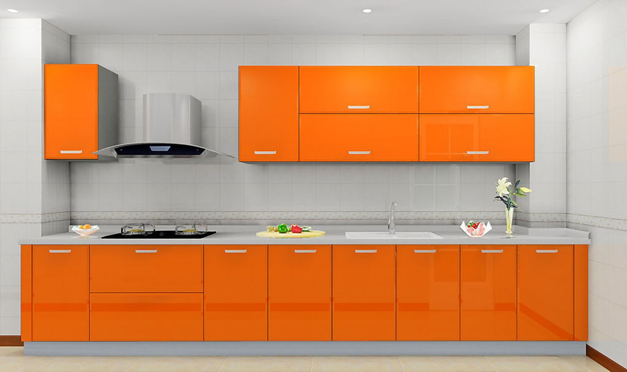 Orange And White Kitchen Orange Kitchen Cabinets Uk
