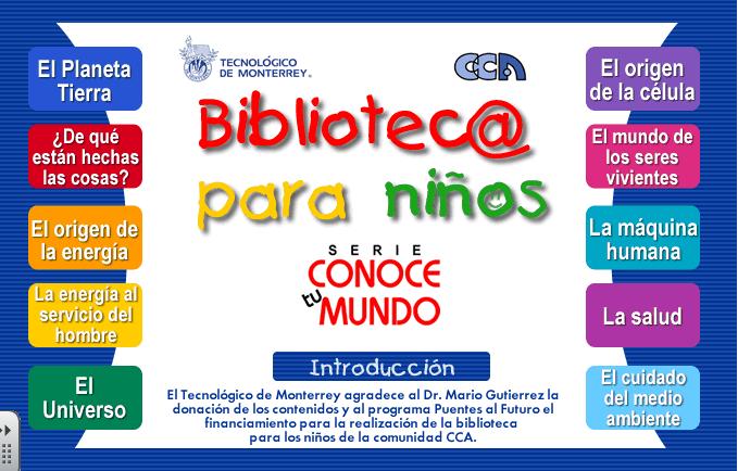 Bibliotec@ para niños