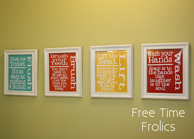 Free Printable Bathroom Art From Free Time Frolics
