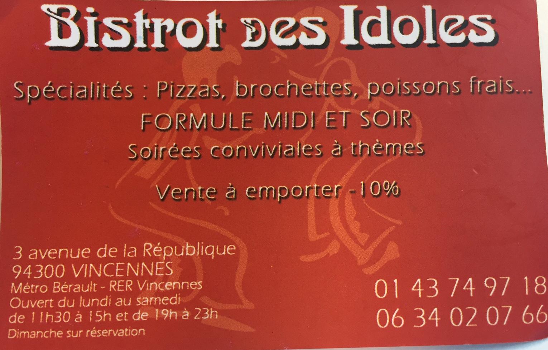Le Bistrot des idoles