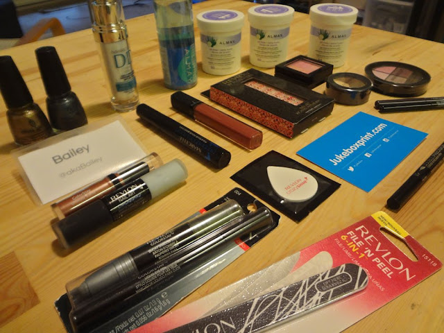 Revlon, China Glaze, Marcelle, Anabelle, Almay products, eyeshadow, lip gloss, nail appliques