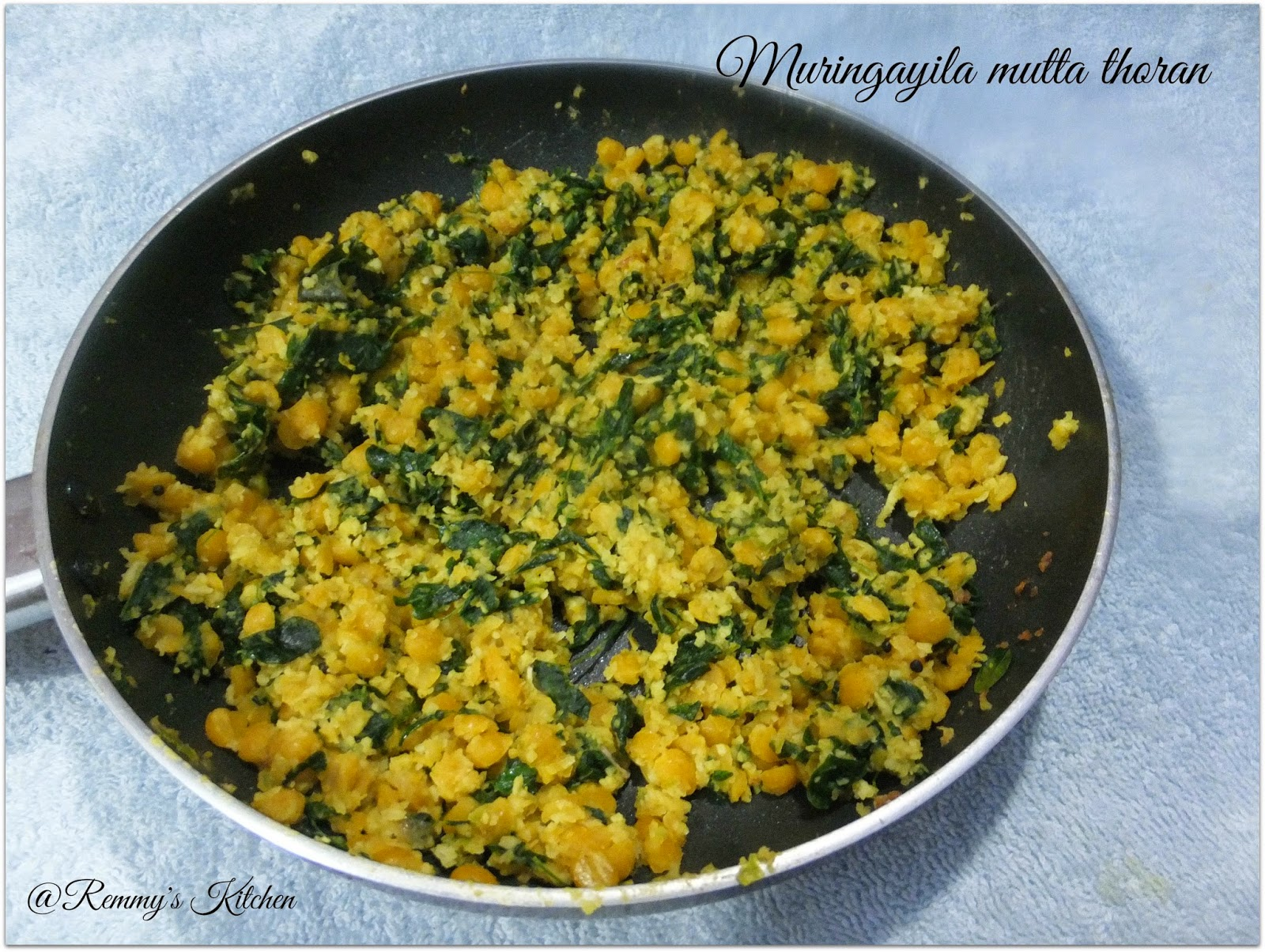 Muringa ila paripu thoran / Drumstick leaves lentil stir fry