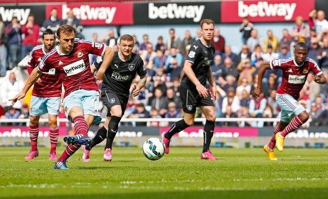 Results : West Ham 1-0 Burnley