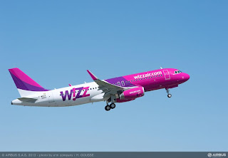 Wizz Air's A320 with sharklets (photo provided by Airbus)