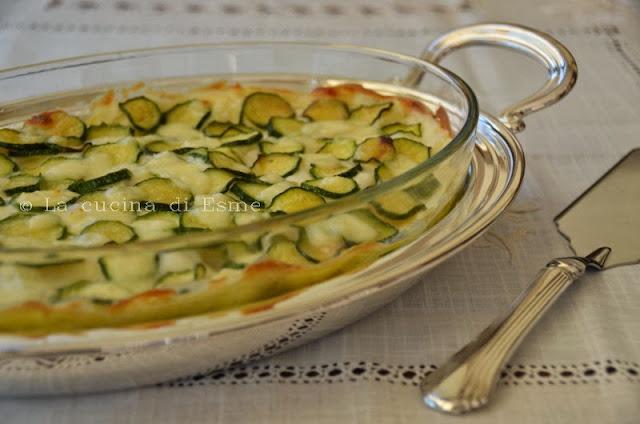 lasagna con zucchine e prosciutto
