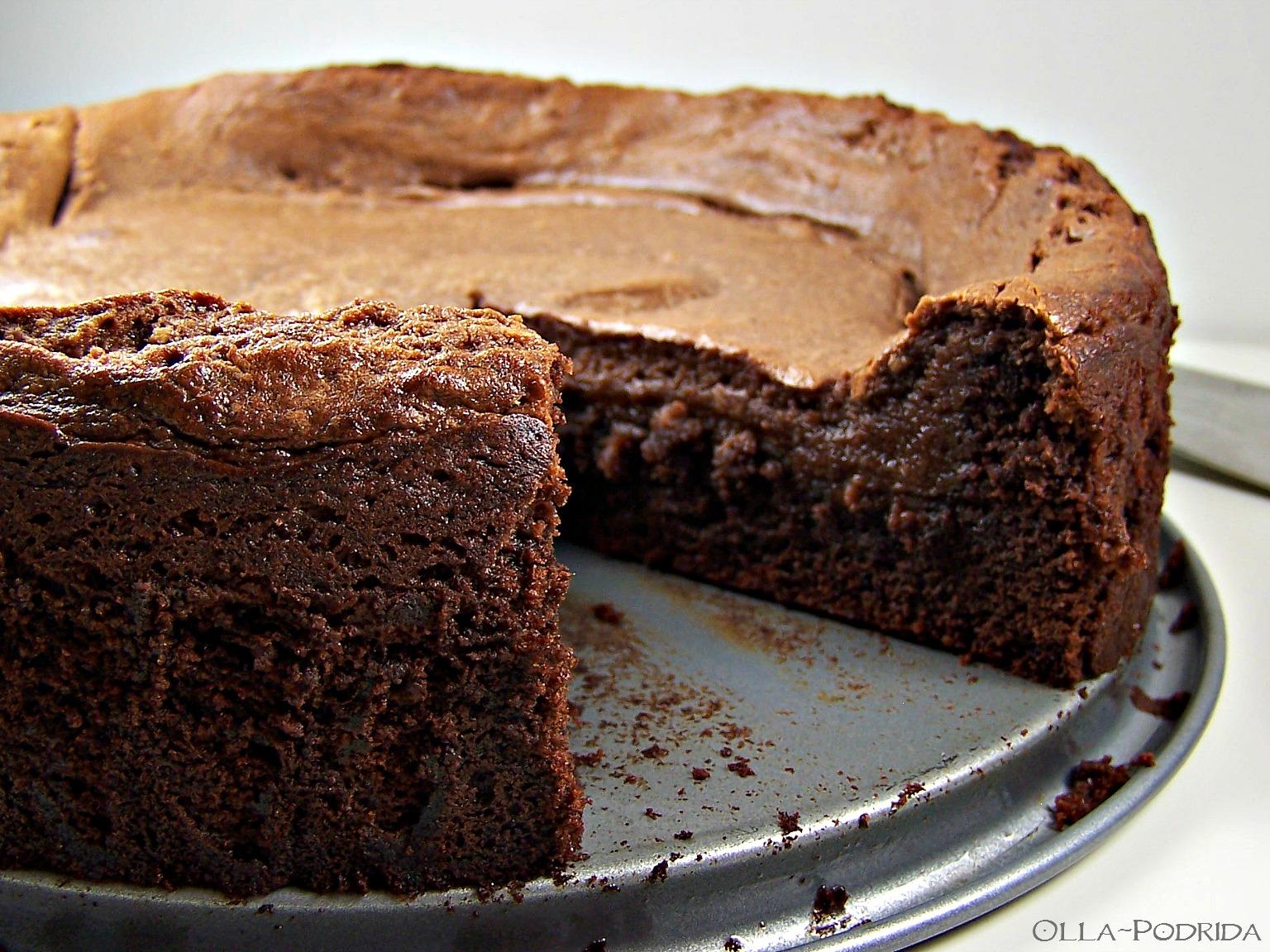 Olla Podrida Not so Ooey Gooey Chocolate Cake