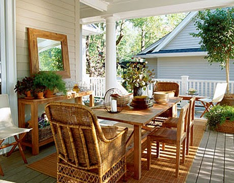 Front Porch Decorating Ideas. Decoration Very Pretty With Natural Chair.  Using Rattan Chairs Make A More Natural Impression.