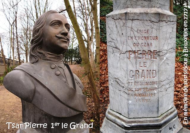 Tsar Pierre le Grand en visite à Bruxelles en 1717 - Une histoire belgo-russe à la mode bruxelloise - Parc Royal - Bruxelles-Bruxellons