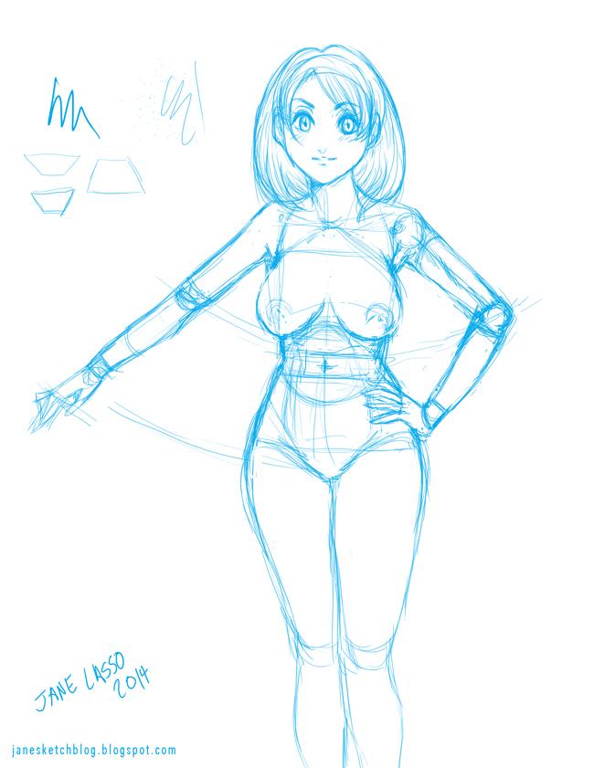 Práctica de Anatomía femenina manga (desnudo) | Dibujos y Sketches ...