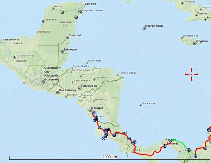 Central America so far !