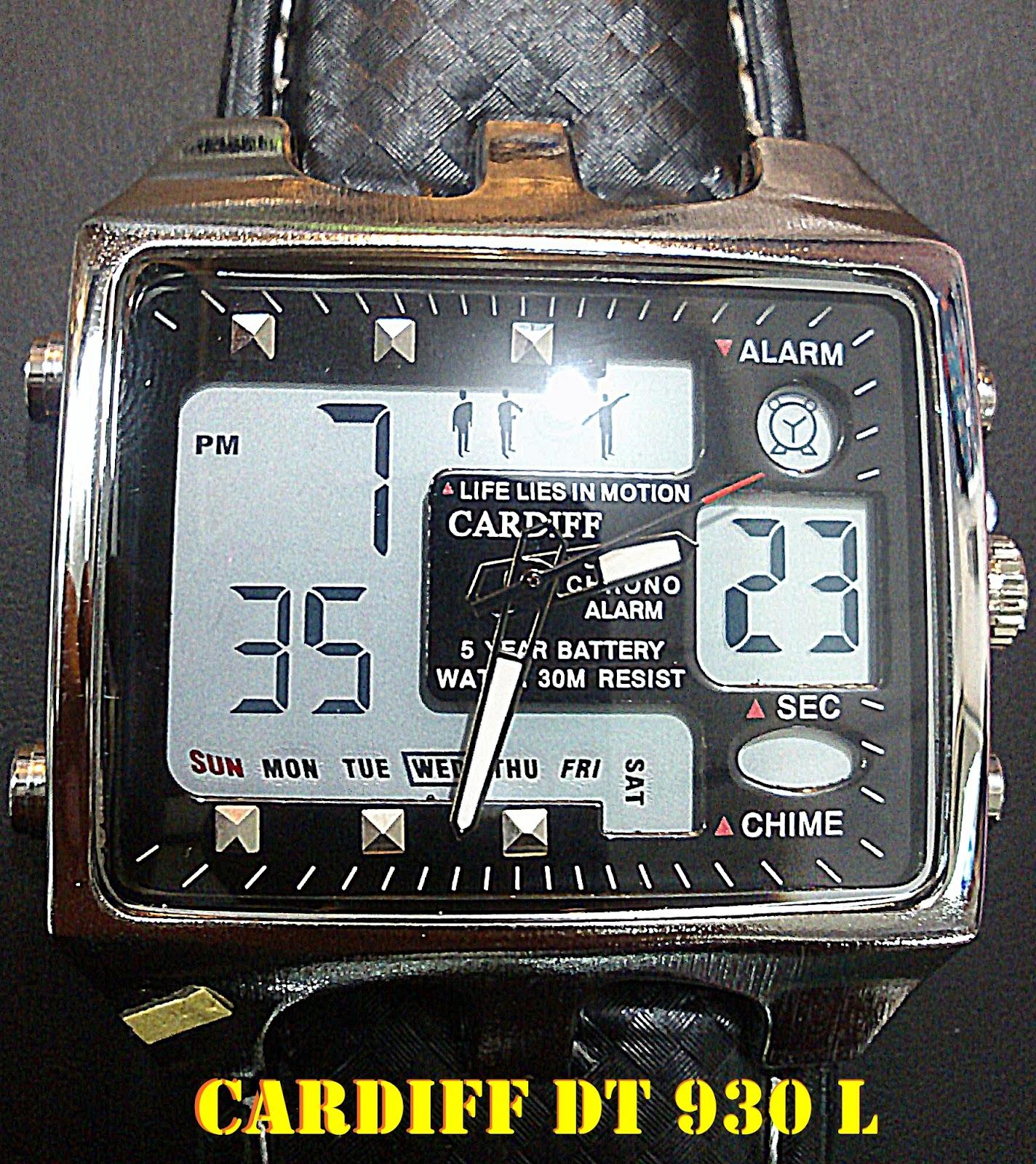 Jam Tangan Elegan Design Kotak Cantik dan Besar kalep Kulit CARDIFF DT 930 L WR 3 ATM Rp 170 000