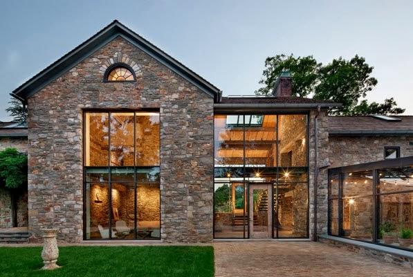 Remodelaci n de casa de piedra y madera en el campo - Casas de piedra y madera ...