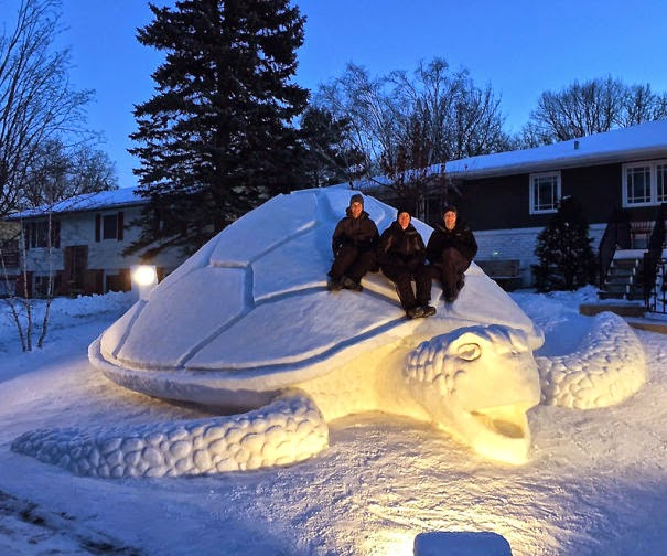 beautiful snow sculpture art