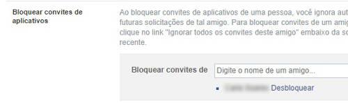 bloquear solicitações no facebook