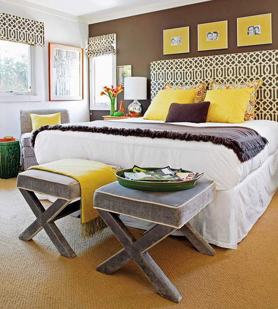 Yellow and Brown Bedroom Decorating Ideas