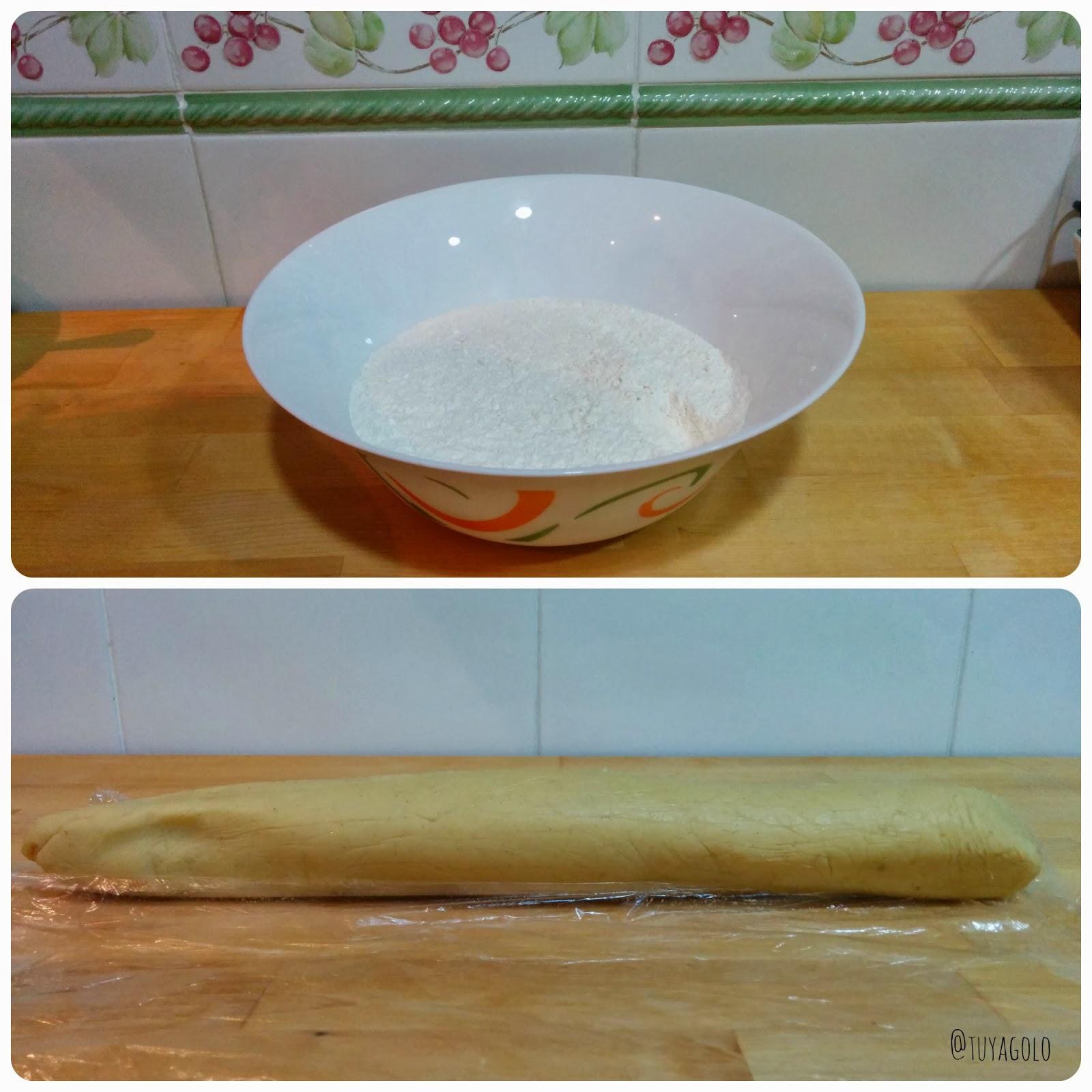 proceso preparar galletas chocolate y vainilla
