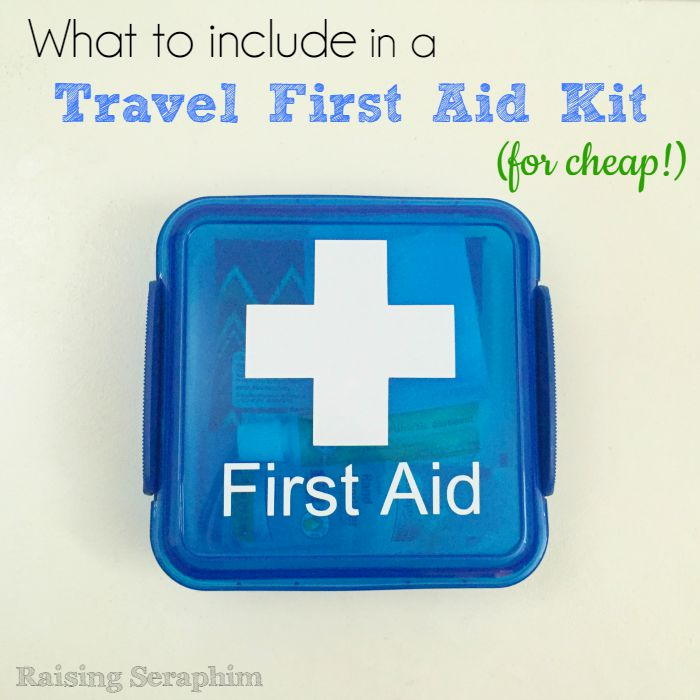 Great idea for a travel first aid kit. Good idea to use that lunch container. And free printable to make sure you don't forget anything!