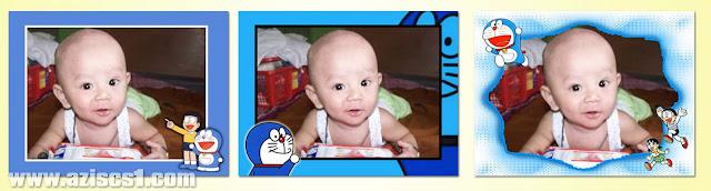 3 Frame foto bertema Doraemon untuk anak-anak