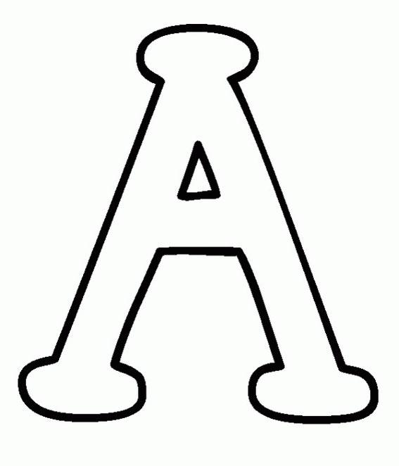 dibujos y colorear: letras del abecedario, la A y la B