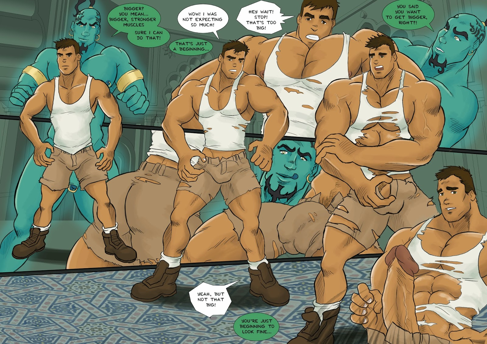 porn men Comic muscle