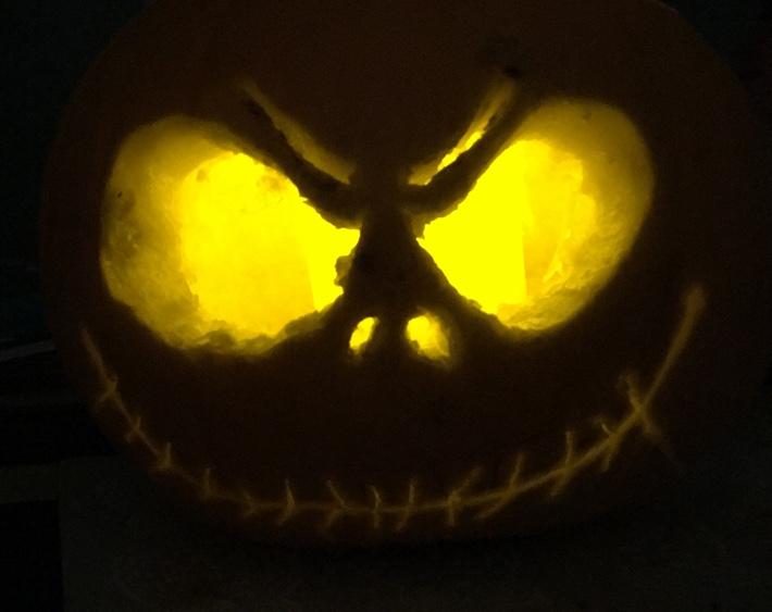 disney jack skellington pumpkin