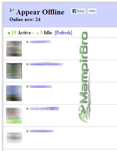 fb how to appear offline