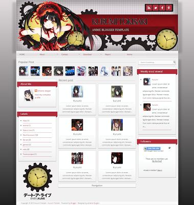 Anime Kurumi Tosaki Template By Vista