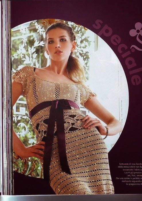 Vestido muy elegante al crochet