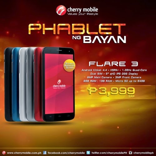 It's official Cherry Mobile Flare 3! Only P3,999