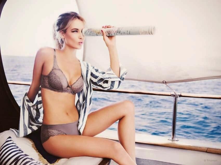 Triumph Lingerie Spring/Summer 2015 Campaign featuring Hannah Ferguson