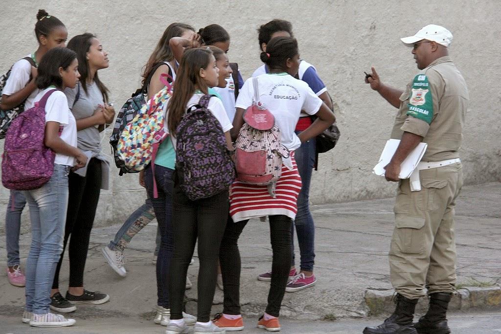 Alunos da rede pública contam com o apoio do projeto Ronda Escolar, executado pela Guarda Civil Municipal
